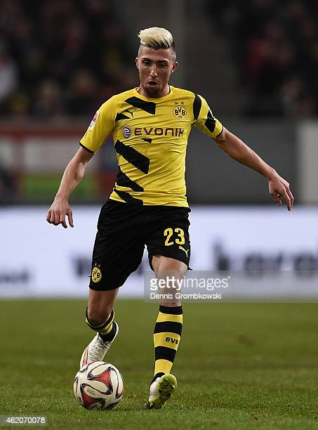 Kevin Kampl of Borussia Dortmund controls the ball during the friendly match between Fortuna Duesseldorf and Borussia Dortmund at EspritArena on...