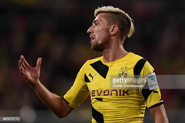 Kevin Kampl of Borussia Dortmund despairs after missing a chance at goal during the friendly match between Fortuna Duesseldorf and Borussia Dortmund...