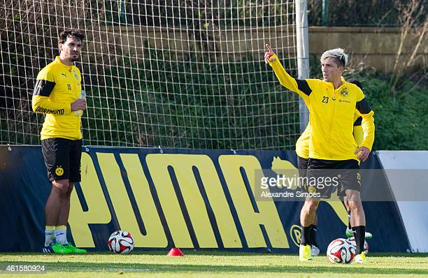 Kevin Kampl of Borussia Dortmund during a training session at Borussia Dortmund training ground on January 15 2015 in LaManga Spain