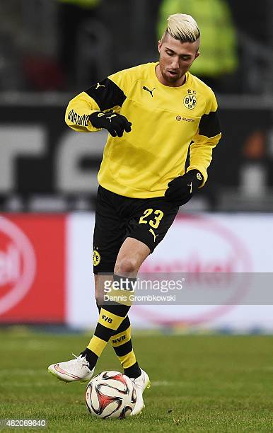 Kevin Kampl of Borussia Dortmund warms up prior to the friendly match between Fortuna Duesseldorf and Borussia Dortmund at EspritArena on January 24...