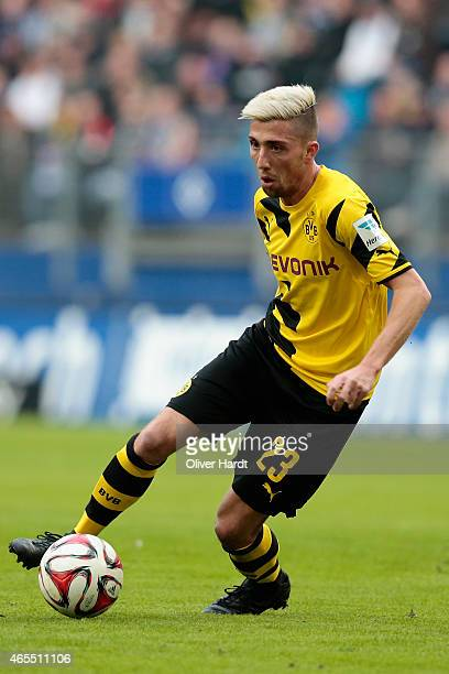 Kevin Kampl of Dortmund in action during the First Bundesliga match between Hamburger SV and Borussia Dortmund at Imtech Arena on March 7 2015 in...