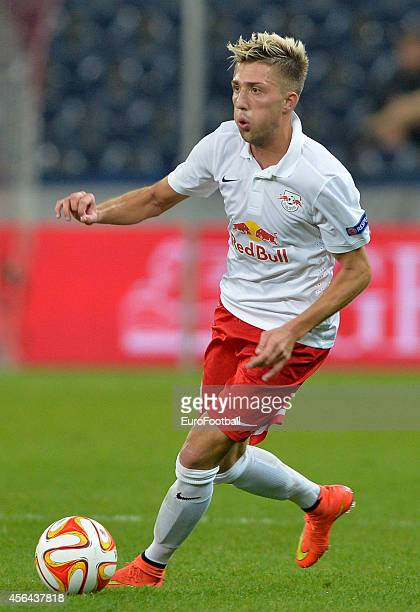 Kevin Kampl of FC Salzburg in action during the UEFA Europa League Group D match between FC Salzburg and Celtic FC on September 18 2014 in...