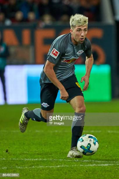 Kevin Kampl of Leipzig controls the ball during the Bundesliga match between FC Augsburg and RB Leipzig at WWKArena on September 19 2017 in Augsburg...
