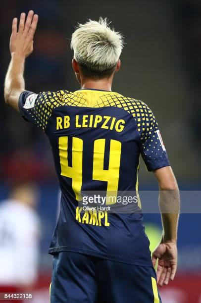 Kevin Kampl of Leipzig in action during the Bundesliga match between Hamburger SV and RB Leipzig at Volksparkstadion on September 8 2017 in Hamburg...