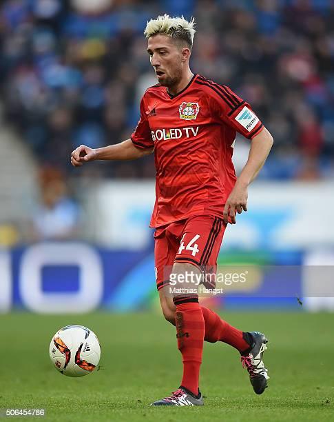 Kevin Kampl of Leverkusen controls the ball during the Bundesliga match between 1899 Hoffenheim and Bayer Leverkusen at Wirsol RheinNeckarArena on...