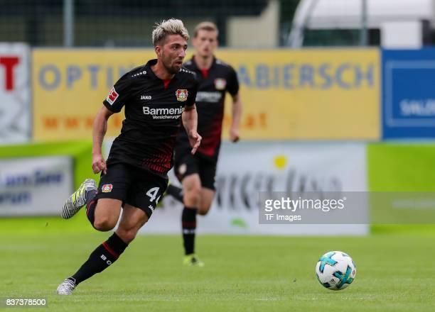Kevin Kampl of Leverkusen controls the ball during the preseason friendly match between Bayer 04 Leverkusen and Antalyaspor on July 27 2017 in Zell...