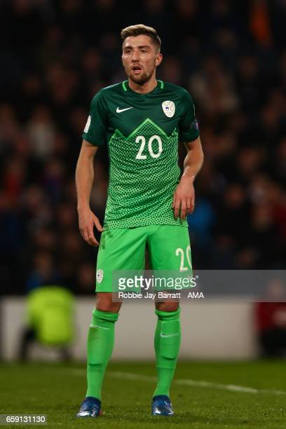 Kevin Kampl of Slovenia during the FIFA 2018 World Cup Qualifier between Scotland and Slovenia at Hampden Park on March 26 2017 in Glasgow Scotland