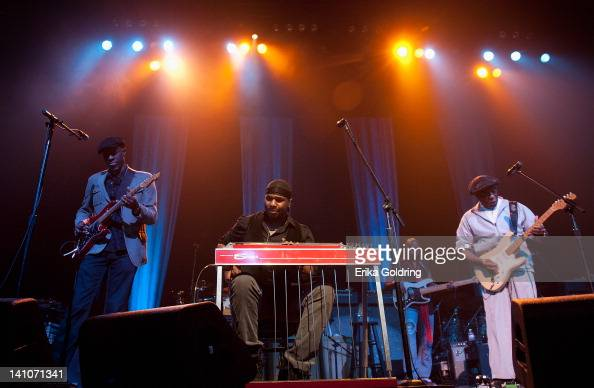 Kevin Keb Mo Robert Randolph and Buddy Guy perform during the Experience Hendrix Tour at the Tennessee Performing Arts Center on March 9 2012 in...