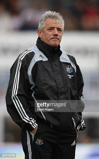Kevin Keegan the Newcastle Manager pictured during the preseason friendly match between Hartlepool United and Newcastle United at Victoria Park on...