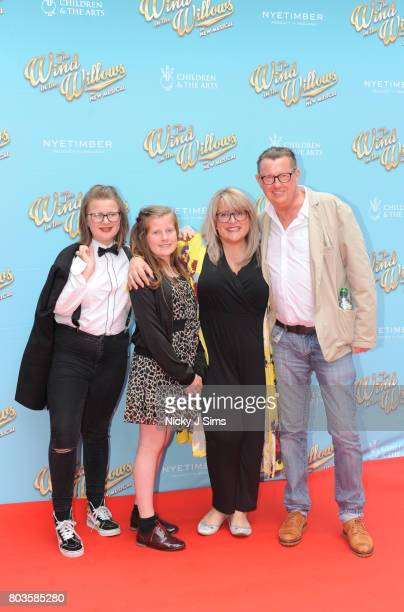 Kevin Kennedy and family attend the Gala performance of Wind In The Willows at London Palladium on June 29 2017 in London England
