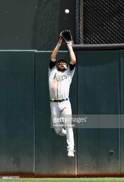 Kevin Kiermaier of the Tampa Bay Rays makes a catch in center field of the ball hit by Max Kepler of the Minnesota Twins during the fourth inning of...