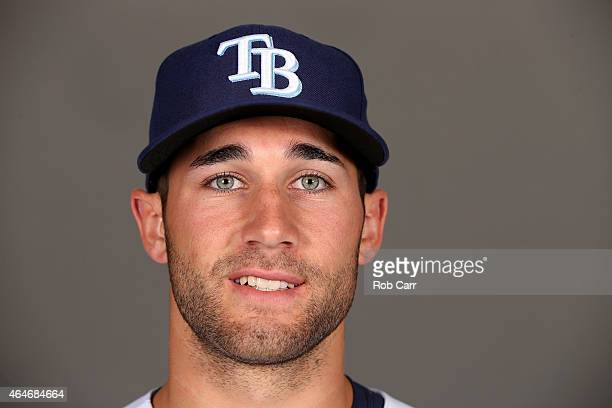 Kevin Kiermaier of the Tampa Bay Rays poses for a photo on photo day at Charlotte Sports Park on February 27 2015 in Port Charlotte Florida