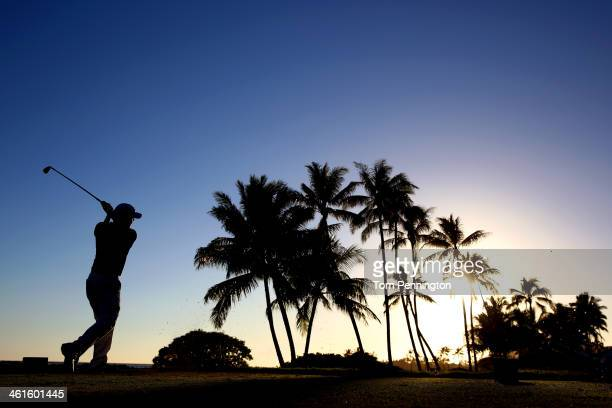 Kevin Kisner hits a tee shot on the 17th hole during round one of the Sony Open in Hawaii at Waialae Country Club on January 9 2014 in Honolulu Hawaii