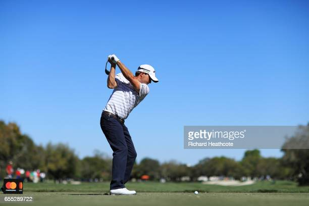 Kevin Kisner of the United States plays his shot from the 11th tee during the final round of the Arnold Palmer Invitational Presented By MasterCard...