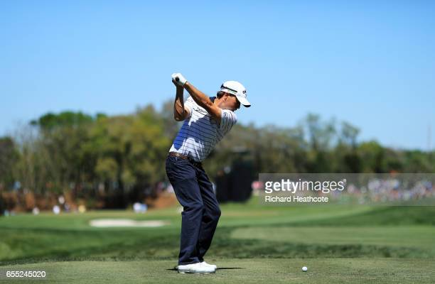 Kevin Kisner of the United States plays his shot from the second tee during the final round of the Arnold Palmer Invitational Presented By MasterCard...