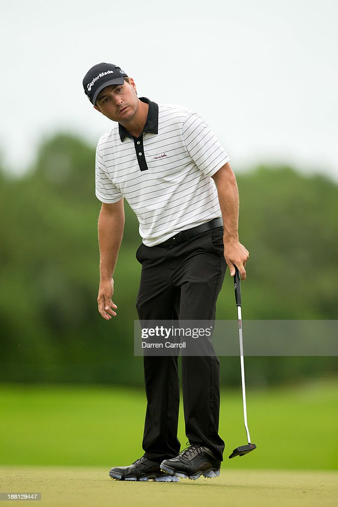 Kevin Kisner of the United States putts at the 17th hole during the second round of the 2013 OHL Classic at Mayakoba, played at El Camaleon Golf Club on November 15, 2013 in Playa Del Carmen, Mexico.