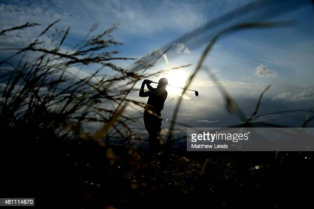 Kevin Kisner of the United States tees off on the 6th hole during the second round of the 144th Open Championship at The Old Course on July 17 2015...