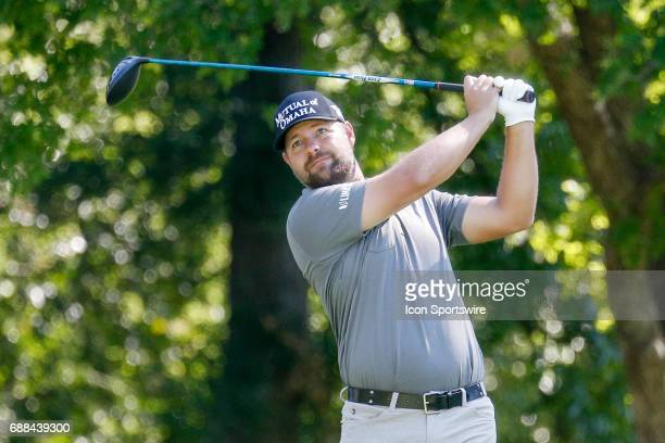 Kevin Kisner plays his shot from the 12th tee during the first round of the Dean Deluca Invitational on May 25 2017 at Colonial Country Club in Fort...