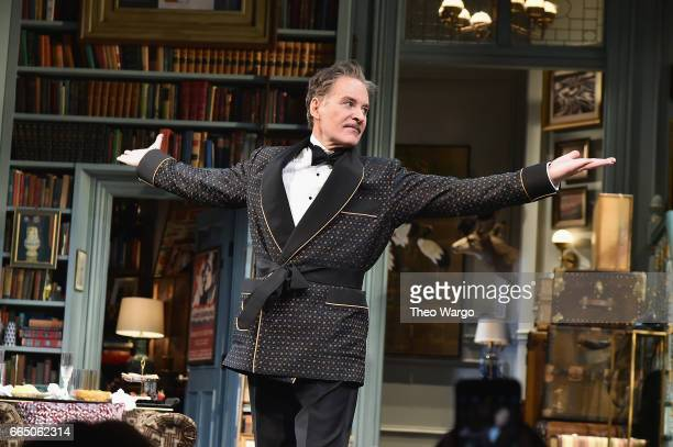 Kevin Kline during curtain call for 'Present Laughter' Broadway Opening Night Arrivals Curtain Call at St James Theatre on April 5 2017 in New York...