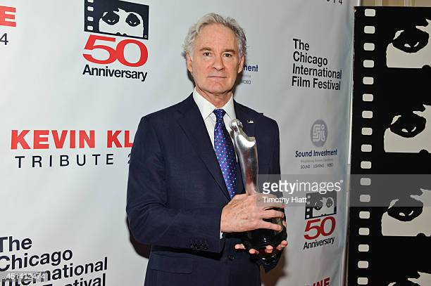 Kevin Kline receives the Career Achievement Award at the 50th anniversary celebration of the Chicago International Film Festival at the Four Seasons...