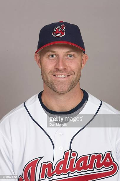 Kevin Kouzmanoff of the Cleveland Indians poses for a portrait at Jacobs Field in Cleveland Ohio on September 27 2006