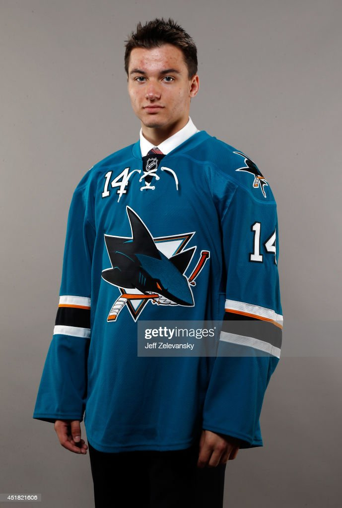 Kevin Labanc of the San Jose Sharks poses for a portrait during the 2014 NHL Draft at the Wells Fargo Center on June 28, 2014 in Philadelphia, Pennsylvania.