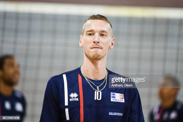 Kevin Le Roux of France during a training session of the French volleyball national team on June 28 2017 in Vincennes France
