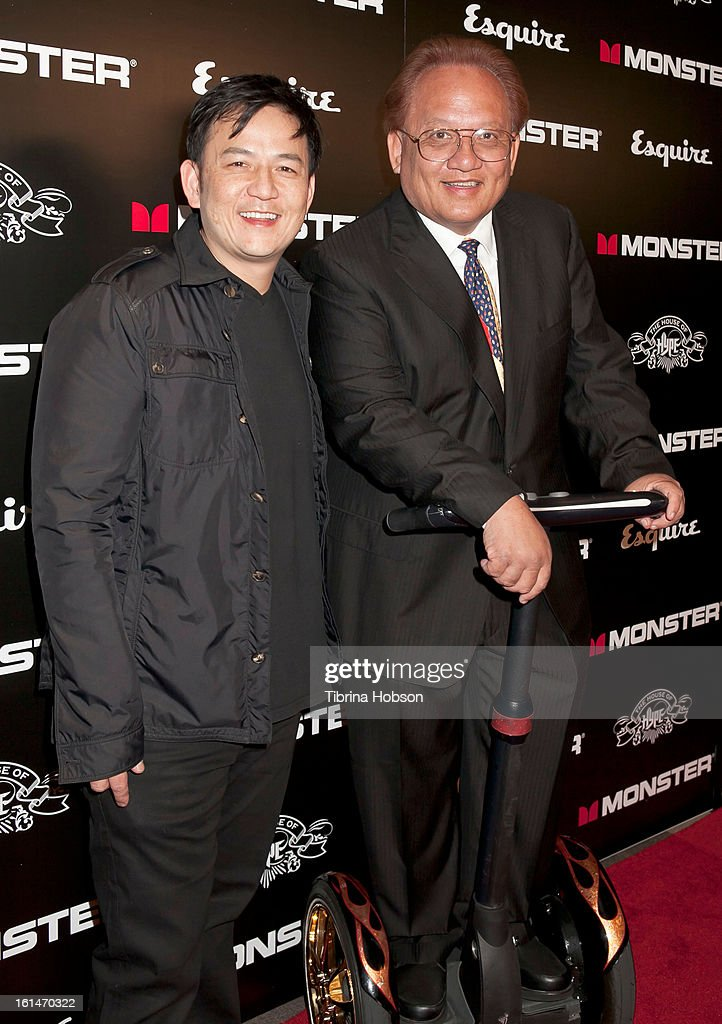 Kevin Lee and Noel Lee attend the 'House of Hype' Monster Grammy party at SLS Hotel on February 10, 2013 in Los Angeles, California.