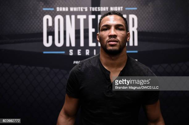 Kevin Lee poses for a picture during Dana White's Tuesday Night Contender Series at the TUF Gym on July 25 2017 in Las Vegas Nevada