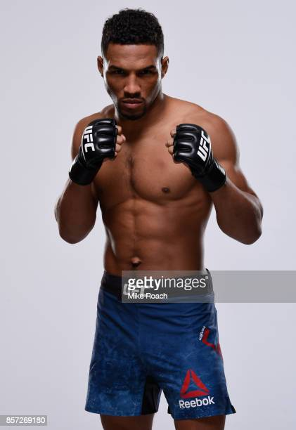 Kevin Lee poses for a portrait during a UFC photo session on October 3 2017 in Las Vegas Nevada