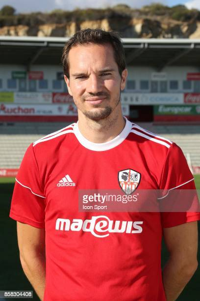 Kevin Lejeune during photoshooting of AC Ajaccio for new season 2017/2018 on October 5 2017 in Ajaccio France