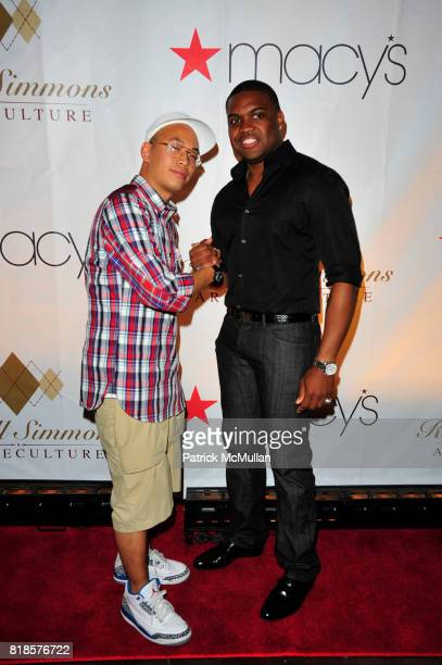 Kevin Leong and DAngelo Wilson attend RUSSELL SIMMONS MACY'S celebrate RUSSELL SIMMONS ARGYLECULTURE FALL 2010 Menswear Presentation at Ampersand...