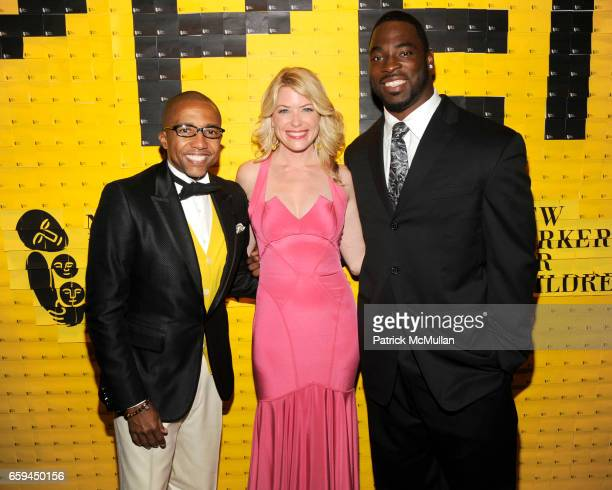 Kevin Liles Amy McFarland and Justin Tuck attend NEW YORKERS FOR CHILDREN 10th Annual Fall Gala at Cipriani 42nd on September 22 2009 in New York City