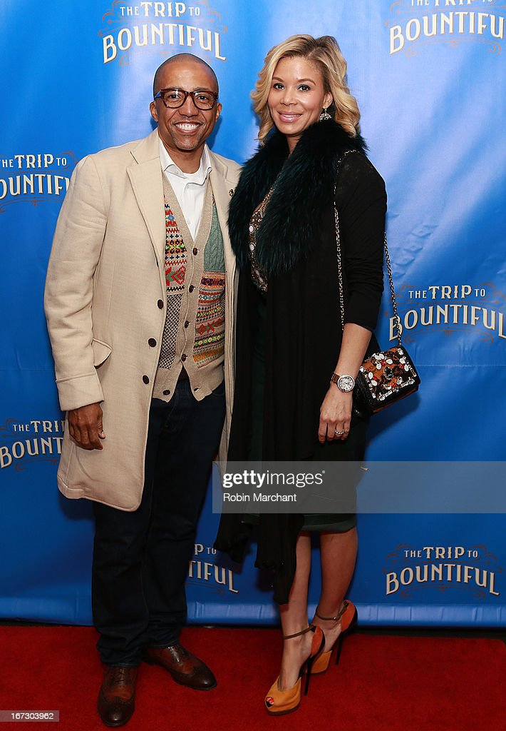 Kevin Liles (L) and Erica Liles attend the after party for the Broadway opening night of 'The Trip To Bountiful' at Copacabana on April 23, 2013 in New York City.