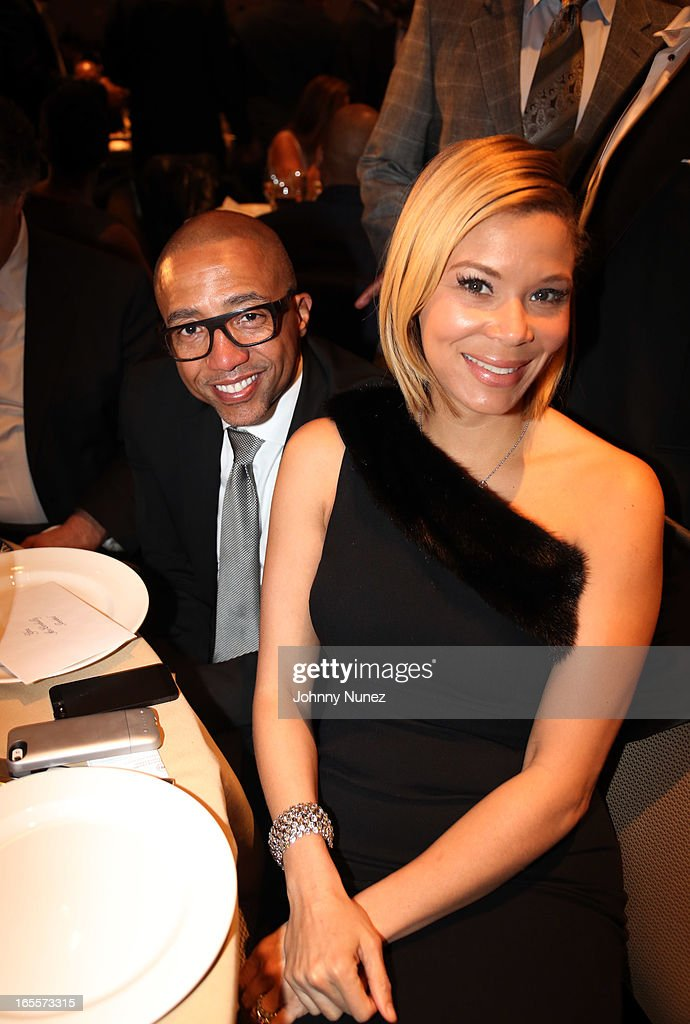 Kevin Liles and Erika Liles attend the 2013 Keepers Of The Dream Awards at the Sheraton New York Hotel & Towers on April 4, 2013, in New York City.