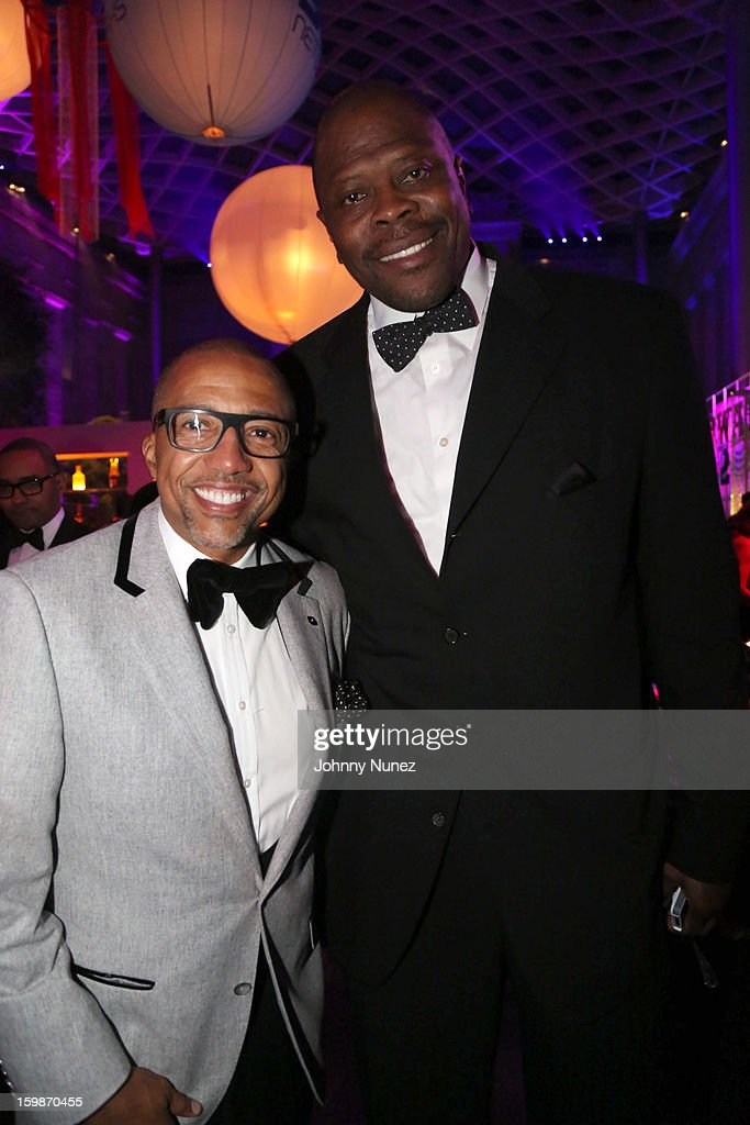 Kevin Liles and Patrick Ewing attend the 2013 BET Networks Inaugural Gala at Smithsonian National Museum Of American History on January 21, 2013 in Washington, United States.