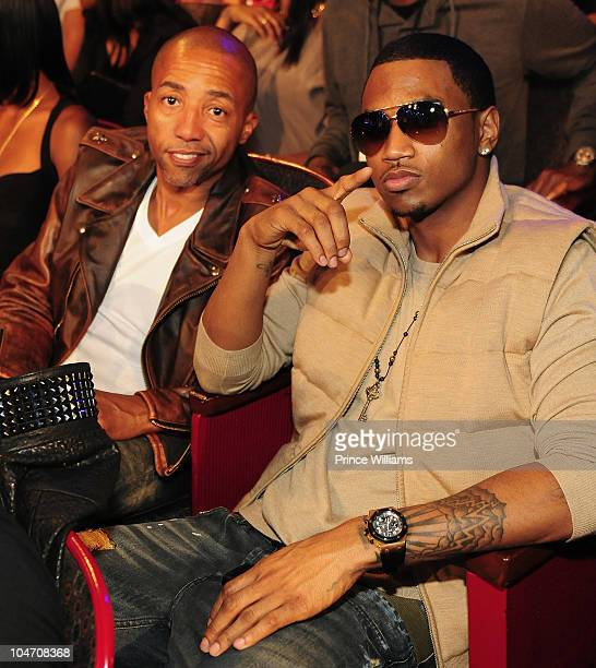 Kevin Liles and Trey Songs attend the BET Hip Hop Awards 2010 at Boisfeuillet Jones Atlanta Civic Center on October 2 2010 in Atlanta Georgia