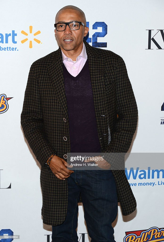 <a gi-track='captionPersonalityLinkClicked' href=/galleries/search?phrase=Kevin+Liles&family=editorial&specificpeople=236082 ng-click='$event.stopPropagation()'>Kevin Liles</a> attends the '42' event honoring Jackie Robinson at the Brooklyn Academy of Music on March 25, 2013 in New York City.