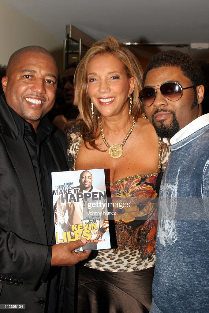 Kevin Liles, Denise Richie and Musiq during Kevin Liles Celebrates the Release of His Book 'Make It Happen: The Hip-Hop Guide To Success' at Firmenich in New York, New York, United States.
