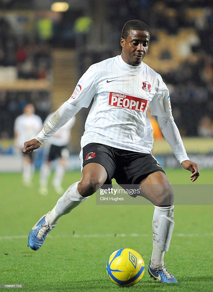 <a gi-track='captionPersonalityLinkClicked' href=/galleries/search?phrase=Kevin+Lisbie&family=editorial&specificpeople=226902 ng-click='$event.stopPropagation()'>Kevin Lisbie</a> of Leyton Orient during the FA Cup with Budweiser Third Round match between Hull City and Leyton Orient at the KC Stadium on January 5, 2013 in Hull, England