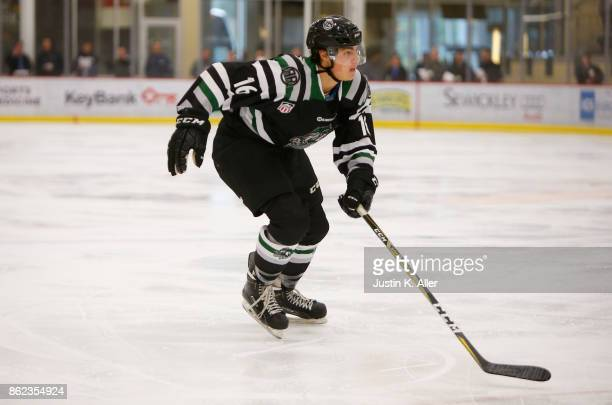Kevin Lombardi of the Cedar Rapids RoughRiders skates during the game against the Sioux Falls Stampede on Day 2 of the USHL Fall Classic at UPMC...