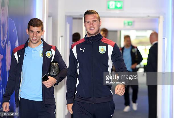 Kevin Long of Burnley arrives for the Premier League match between Leicester City and Burnley at the King Power Stadium on September 17th 2016 in...