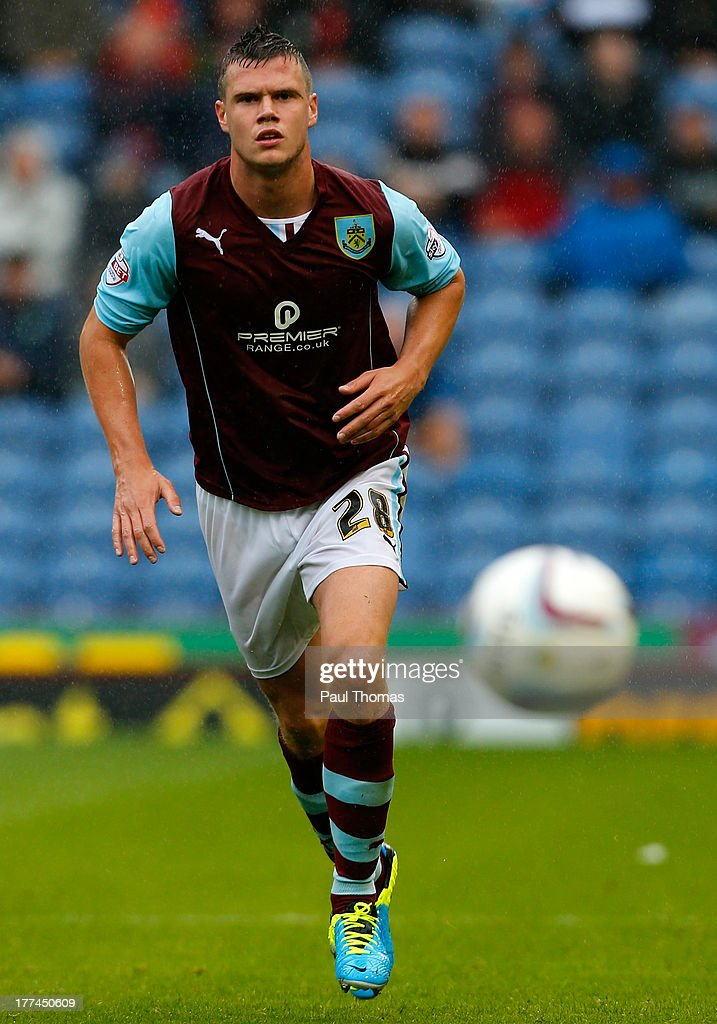 Kevin Long of Burnley in action during the Sky Bet Championship match between Burnley and Yeovil Town at Turf Moor on August 17, 2013 in Burnley, England