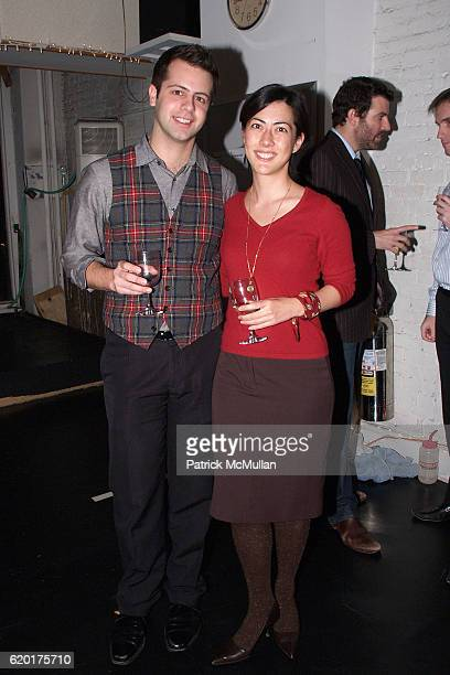 Kevin Longo and Sara Clemence attend PAUL TAYLOR DANCE Hosts Cocktails for YOUNG PATRONS at 552 Broadway on November 11 2008 in New York City