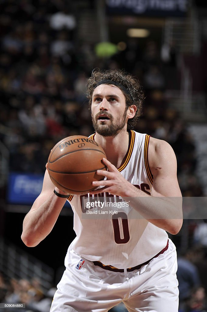 <a gi-track='captionPersonalityLinkClicked' href=/galleries/search?phrase=Kevin+Love&family=editorial&specificpeople=4212726 ng-click='$event.stopPropagation()'>Kevin Love</a> #0 of the Cleveland Cavaliers prepares to shoot a free throw against the Sacramento Kings on February 8, 2016 at Quicken Loans Arena in Cleveland, Ohio.