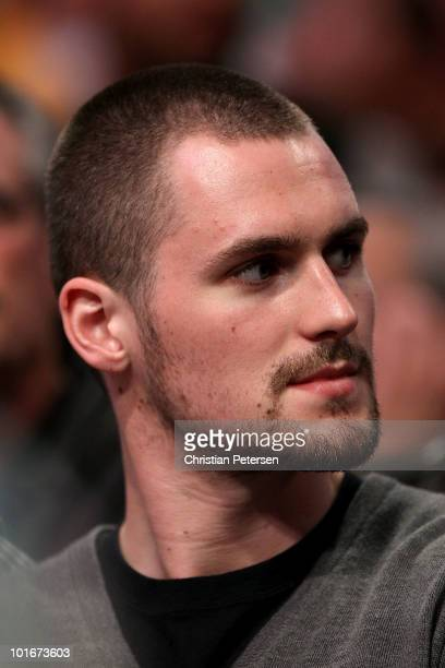 Kevin Love of the Minnesota Timberwolves attends Game Two of the 2010 NBA Finals between the Boston Celtics and the Los Angeles Lakers at Staples...
