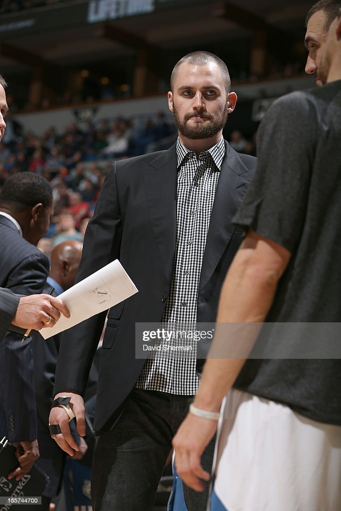 <a gi-track='captionPersonalityLinkClicked' href=/galleries/search?phrase=Kevin+Love&family=editorial&specificpeople=4212726 ng-click='$event.stopPropagation()'>Kevin Love</a> #42 of the Minnesota Timberwolves looks during the game between the Minnesota Timberwolves and the Orlando Magic on November 7, 2012 at Target Center in Minneapolis, Minnesota.