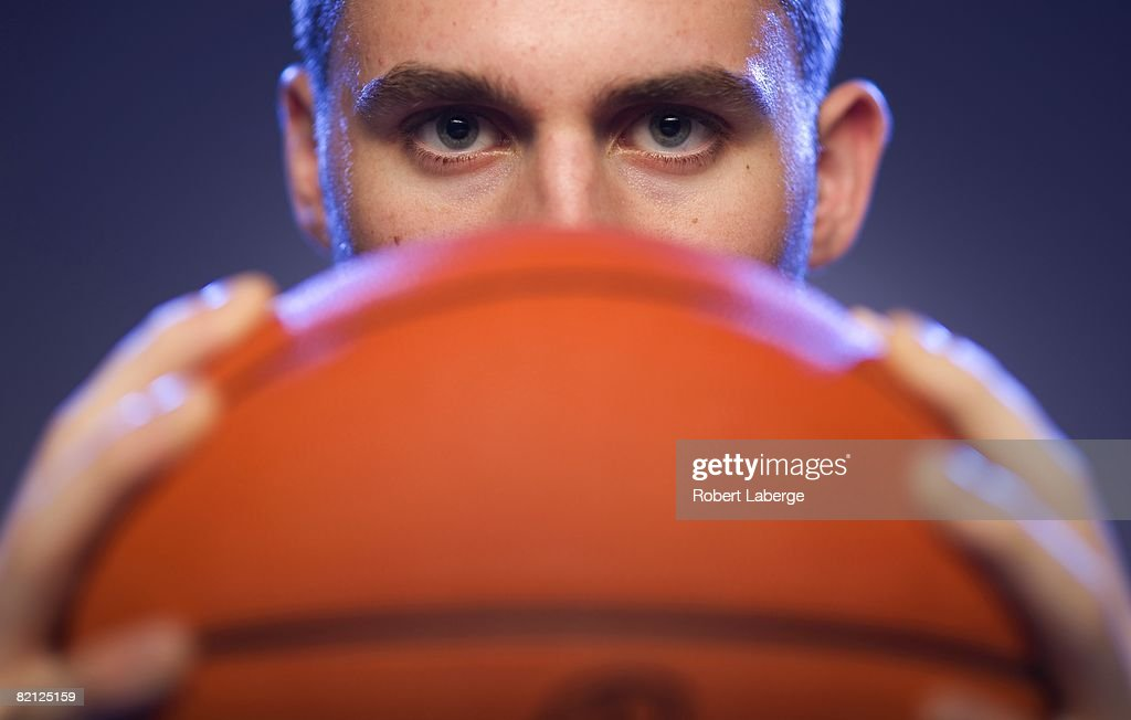 Kevin Love of the Minnesota Timberwolves poses for a portrait during the 2008 NBA Rookie Photo Shoot on July 29, 2008 at the MSG Training Facility in Tarrytown, New York.