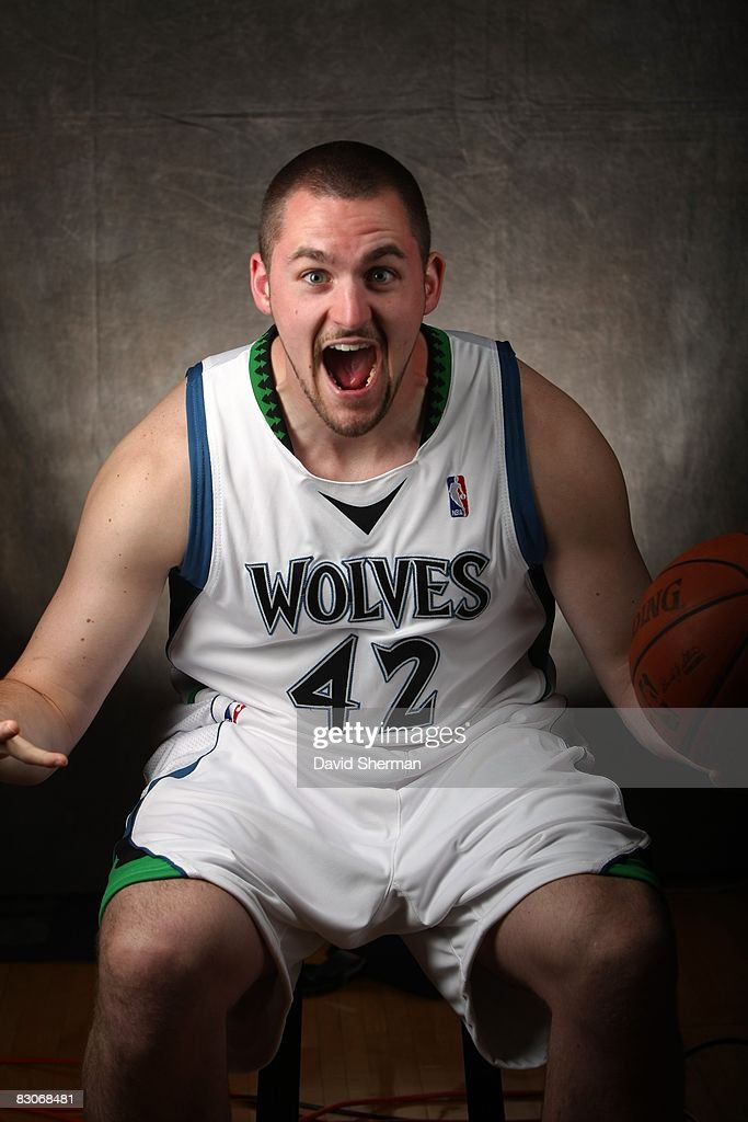 Kevin Love #42 of the Minnesota Timberwolves poses for a portrait during NBA Media Day on September 29, 2008 at the Target Center in Minneapolis, Minnesota.