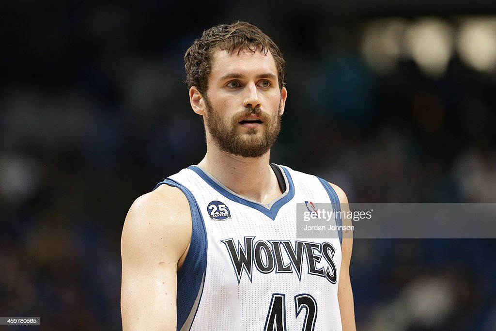 <a gi-track='captionPersonalityLinkClicked' href=/galleries/search?phrase=Kevin+Love&family=editorial&specificpeople=4212726 ng-click='$event.stopPropagation()'>Kevin Love</a> #42 of the Minnesota Timberwolves stands on the court against the Dallas Mavericks on November 8, 2013 at Target Center in Minneapolis, Minnesota.